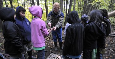 Students discover forest flora and fauna at Albion Hills Field Centre