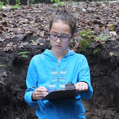 Female Grade 6 student at Claremont Field Centre