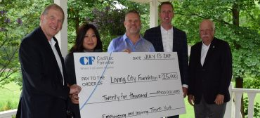 Cadillac Fairview executives present cheque to TRCA Education team for Environmental Leaders of Tomorrow project